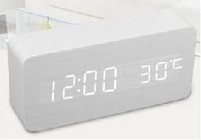 LED Wooden Clock, 150x70x45mm Rectangular (SGD28.00)
