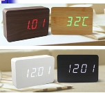 LED Wooden Clock, 100x60x40mm Rectangular (SGD22.00)