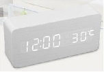 LED Wooden Clock, 150x70x45mm Rectangular (SGD28.00)