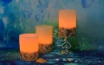 Handmade Seashell Embedded LED Candle (LPG-LCL-090)